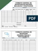 Formato Control de Recepcion de Pescado
