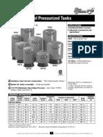 Tanques Hidroneumaticos Prosource Especificaciones