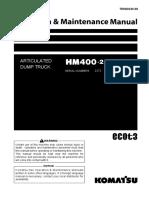 O&M HM400-2 2372-2632 TEN00230-06