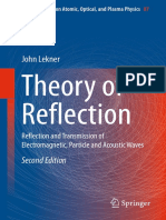 Theory of Reflection Reflection and Transmission of Electromagnetic Particle and Acoustic Waves