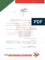 modelo de carta de garantia de juntas de dilatacion