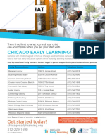 chicago early learning enrollment 2018-2019 flyer