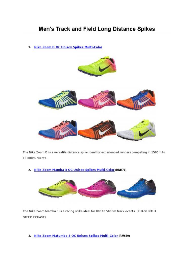 official photos 80567 a20a6 Katalog Spike Nike Mengikut Acara   Track And Field   Running