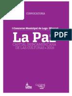 """i Concurso Municipal de Logo(Marca) """"La Paz Capital Iberoamericana de Las Culturas 2018"""""""