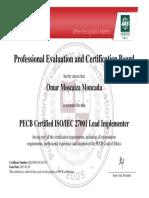 Certificate pecb