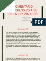 Comentario Artículos 25 a 30 de La Ley
