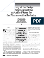 The Study of the Design of Production Systems of Purified Water for the Pharmaceutical Industry