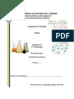 Quimica (Estequiometria y Gases) Cuaderno de Trabajo UNACAR