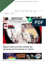 04-05-18 Miguel Castro promete atender las demandas de los taxistas en Jalisco