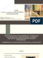 Seminario de Investigación Aplicada a La Educación PPT ACT