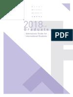 Admission Guide for International Students Fakk 2018(Graduate)