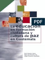 La Educación y Cultura de Paz en Guatemala