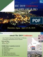 Conferencia CIGRE - IEC 2019 en EHV y UHV (AC y DC)
