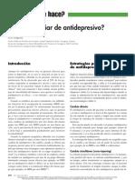 Cómo Cambiar de Antidepresivo