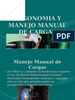 Ergonomia, Manejo manual de cargas.ppt