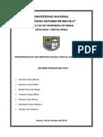 Laboratorio, Preparacion de Muestra Solida Para El Analisis Quimico.