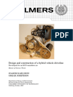 Design and construction of a hybrid vehicle driveline