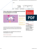 Cómo Seleccionar Una Plataforma de Servicios de Intermediación en La Nube - EvaluandoCloud