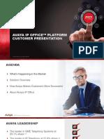 Avaya IP Office Platform Customer Presentation R10 En
