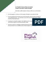Partcipant Information Leaflet Template.nov2011.Eh__0