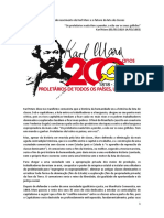 Os 200 anos do nascimento de Karl Marx e o futuro da luta de classes