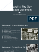 stonewall and gay liberation movement