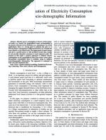 Spatial Estimation of Electricity Consumption Using Socio-demographic Information