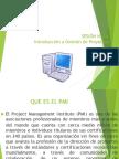 Pro. Management Diapo 1ra Clase