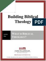 Building Biblical Theology – Lesson 1 – Transcript