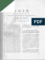 1960 Noir de Peau, Blanc d'Esprit