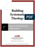 Building Systematic Theology – Lesson 1 – Transcript