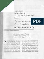 1960 Problèmes Internationaux Lors de La Naissance Du Prophète