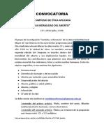 CONVOCATORIA II SIMPOSIO DE ÉTICA APLICADA