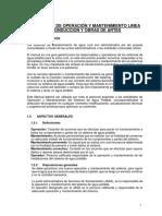 8.1.2.-Manual de Operación y Mantenimiento Linea de Conduccion y Obras de Artes