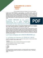 Fragmentos Del Resumen de La Nueva Medicina Germánica