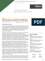 ConJur - Ricardo Calciolari_ Polêmicas Advindas Da Aprovação Da Lei13.655