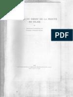 1964 La Genèse Du Droit de La Preuve en Islam