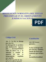 Regulación Normativa del Titulo Preliminar.ppt