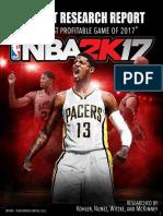 Market Research Report-NBA 2K17