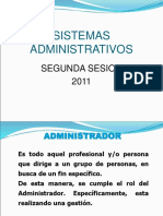 Sistemas Administrativos Segunda Sesion