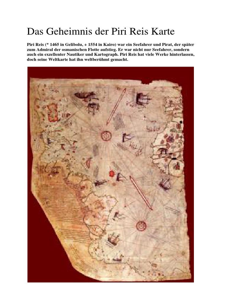 Piri Reis Karte Atlantis.Das Geheimnis Der Piri Reis Karte