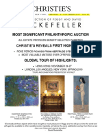 Christie's November Announcement of Rockefeller Sales