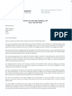 Letter of support and endorsement