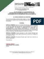 Proyecto de Acuerdo N0 009