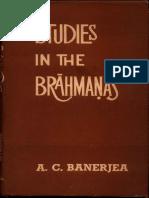 Studies in the Brahmanas - A.C. Banerjera