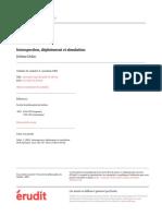 Dokic - Introspection, Déploiement Et Simulation