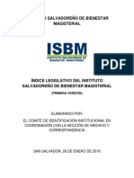 Indice Legislativo de Isbm 2016