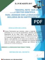 Presentación RECTORES Decreto 1421 29 Agosto 2017