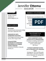 ettema teaching resume518