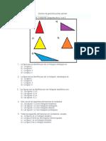 Examen de Geometría Primer Periodo